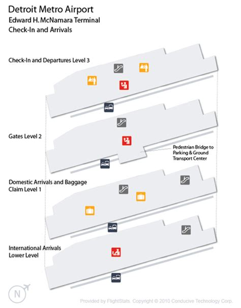 detroit airport map us airways detroit airport dtw guide fly to detroit with flight