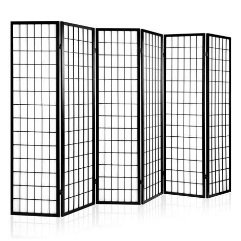 6 panel room divider room divider 6 panel black