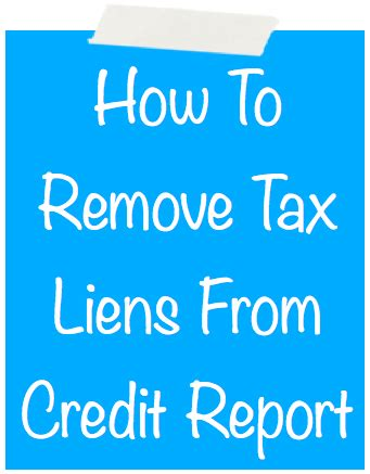 Can Records Be Removed From Credit Report How To Remove A Tax Lien From Your Credit Report Autos Post