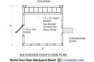 chicken coop floor plan 8x8 chicken coop plans large chicken coop plans