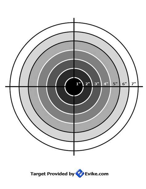 printable airsoft targets barrel length and red dot sight accuracy test