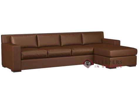 Leather Sectional With Chaise And Sleeper Customize And Personalize Corvo Chaise Sectional Leather