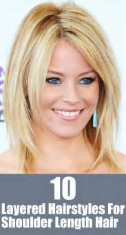 best 50 s hairstyle for lightly layeed shoulder length hair top 10 layered hairstyles for shoulder length hair
