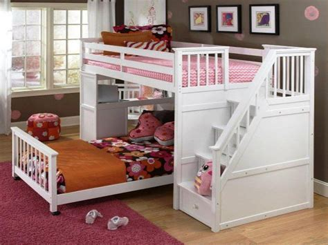 bunk beds for kids with stairs kids beds with stairs with the utica triple bunk berg