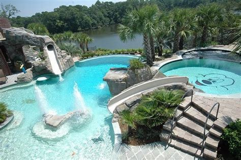 pool designs with slides backyard pool design a major feature of your garden