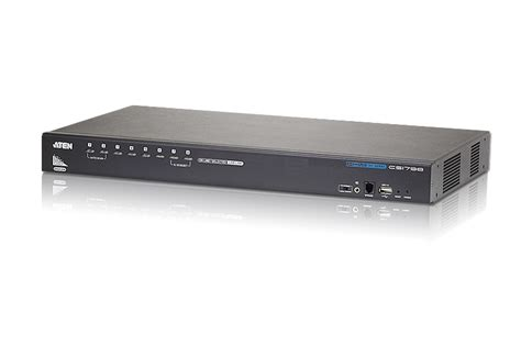 Server Rack Switch by Aten Cs1798 8 Port Usb Hdmi Kvm Switch Server Rack Sg