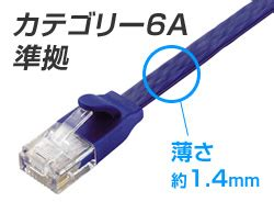 cat6a準拠 超高性能スーパーフラットlanケーブル ld gfa/bmシリーズ