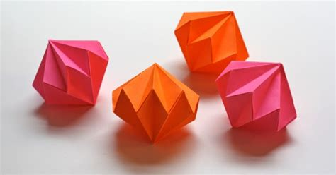 Orange Origami Paper - origami ornaments how about orange