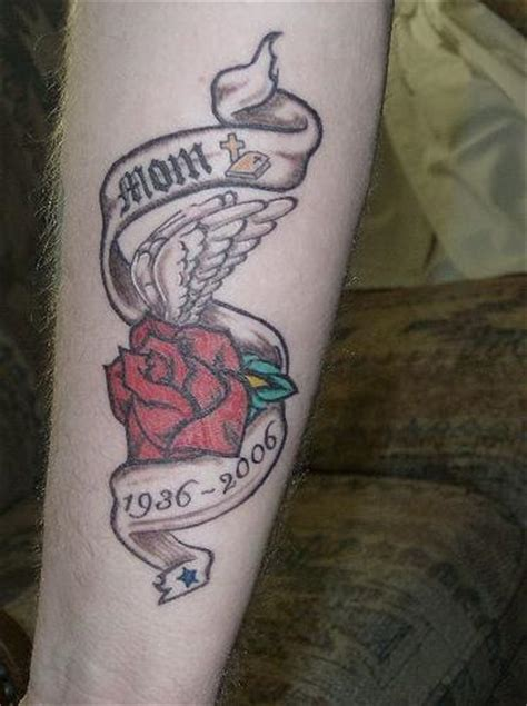 memorial rose tattoos 22 amazing memorial tattoos