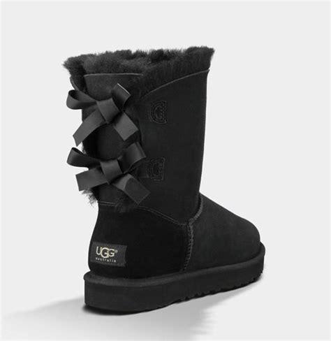 ugg australia boots bailey bow black fredericks cleveleys