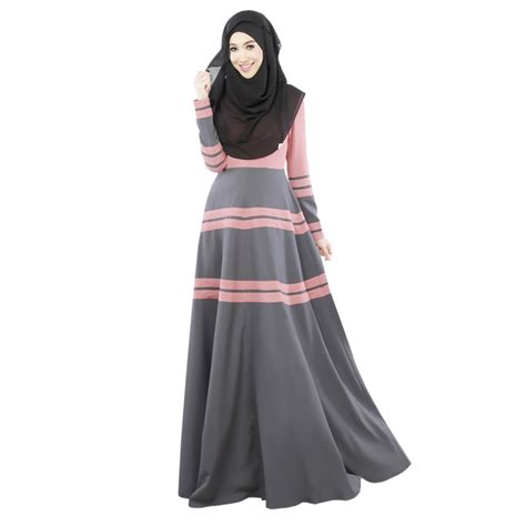 Dress Muslim Abaya Hikmat Fashion A806 Beige aliexpress buy fashion s vintage kaftan abaya jilbab islamic muslim sleeve maxi