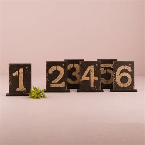 Rustic Table Numbers by Rustic Table Cards Table Numbers