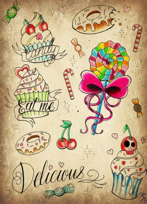 sweets tattoo designs best 25 ideas on sweet tattoos
