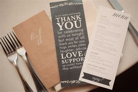 Wedding Thank you card   Menu & Thanks Cards, Napkins
