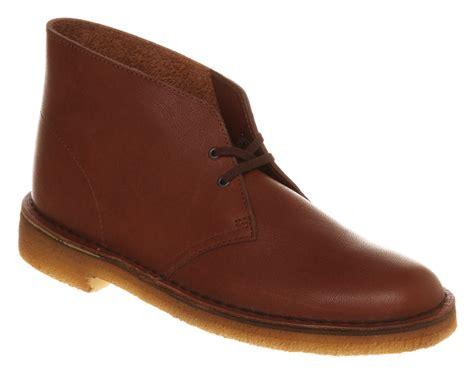mens clarks originals desert boot brown vintage leather