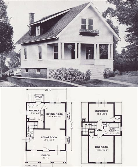 standard house plans the hazelwood transitional bungalow 1923 standard