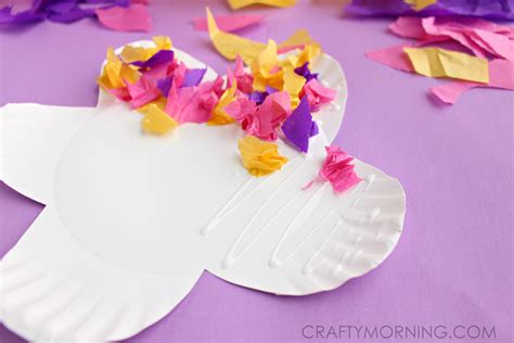 Paper Plate Flower Craft - paper plate flower craft using tissue paper crafty morning
