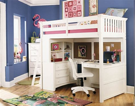Loft Beds With Desks Underneath 30 Design Ideas With White Loft Bed Desk