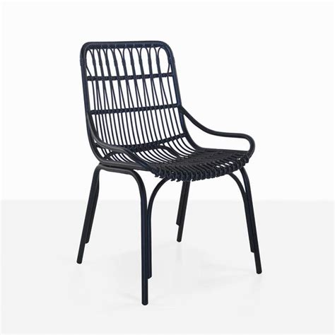 black outdoor dining chairs australia sydney black wicker dining chair outdoor furniture