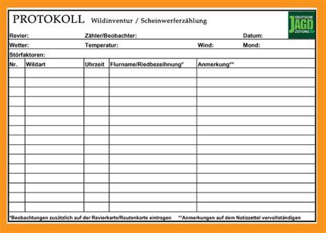 Protokoll Vorlagen Muster Vorlage Protokoll Word Muster Und Vorlagen Kostenlos