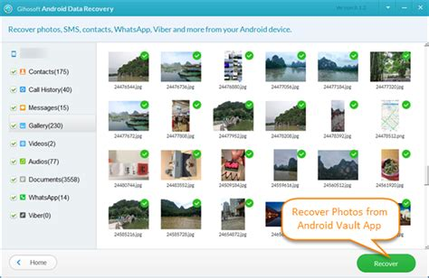 photo recovery app android how to easily recover lost photos from vault app