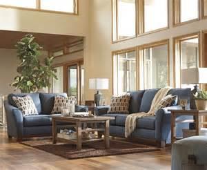 denim living room furniture janley denim sofa loveseat 43807 38 35 living