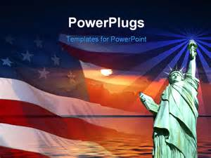 America Powerpoint Template by Symbol Of America Flag Statue Of Liberty
