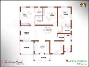 floor plan styles architecture kerala 3 bhk single floor kerala house plan