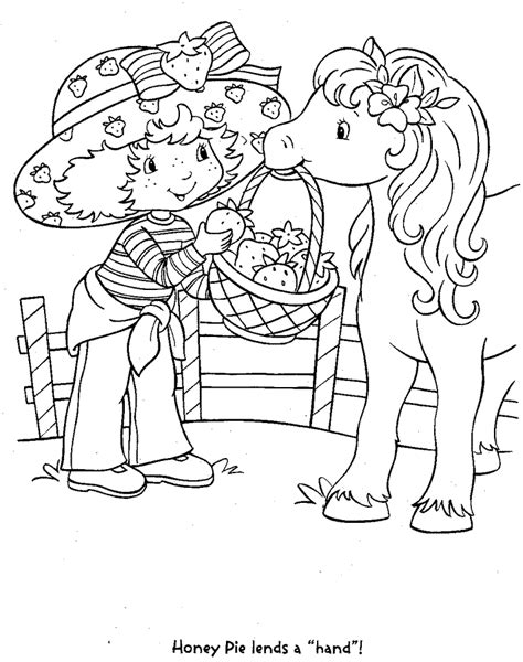 strawberry shortcake coloring pages to print coloring home