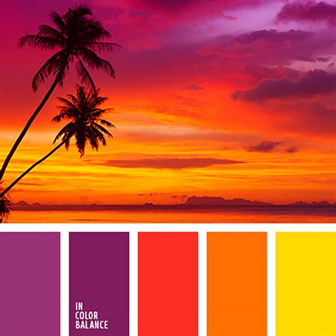 tropic colour the sunset shades wedding affair