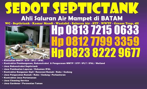 Bakteri Pengurai Limbah Wc Restaurant Rumah Sakit Mall Hotel Pabrik hp 081372150633 pakar renovasi rumah di batam spesialis