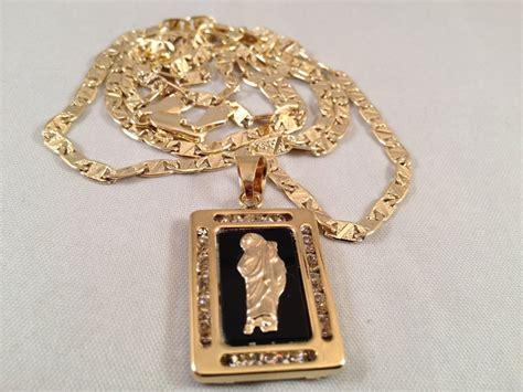 cadenas de oro religiosas san judas cadena oro negro rosario sinaloense medalla k