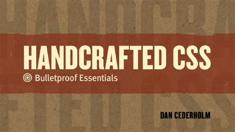 Handcrafted Css - handcrafted css bulletproof essentials dvd peachpit