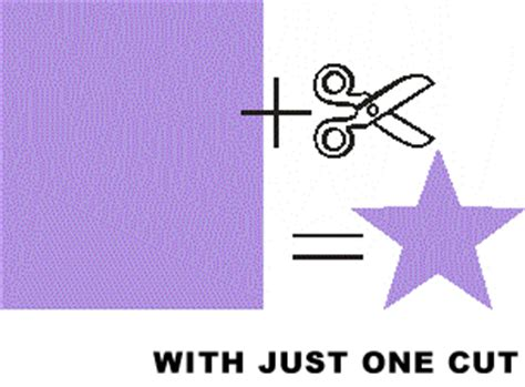 How To Make A Five Point Out Of Paper - how to cut 5 pointed with just one snip