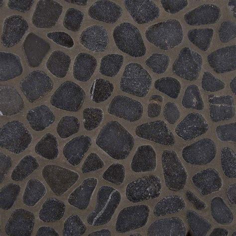 pattern marble mosaic black marble pebbles tumbled pattern 10mm mosaic tile