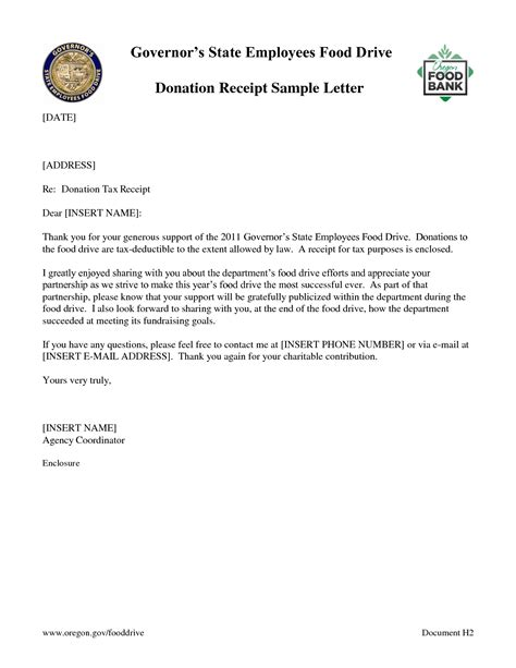Invoice Deduction Letter Sle Donation Receipt Template