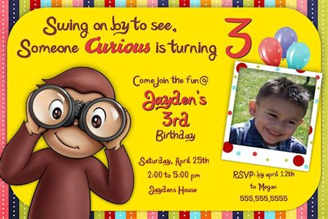 free curious george invitation template 17 best images about curious george on