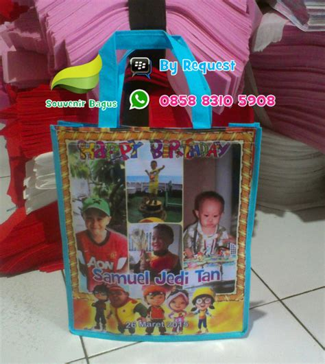 Tas Ultah Model Resleting Banner Masha And The 2 tas ultah boboiboy tas ulang tahun boboiboy api goodie bag murah
