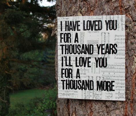 wedding song a thousand years wedding gift personlize and groom s