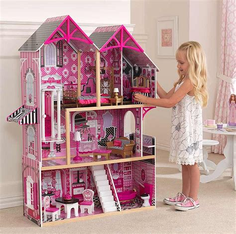 tall dolls house girls dolls house tall barbie castle pink furniture dollhouse large toddler toys ebay