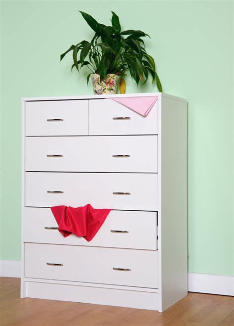 Oslo Bed Corner Wardrobe and Chest of drawer Childrens bedroom set White or Beech M0510