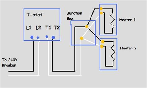 wiring diagram for baseboard heater cadet thermostat