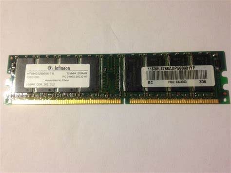Ram Komputer 256 Mb memoria ram infineon 256mb 333mhz 184 pin ddr pc 2700