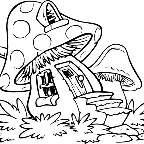 musrooms trippy coloring pages