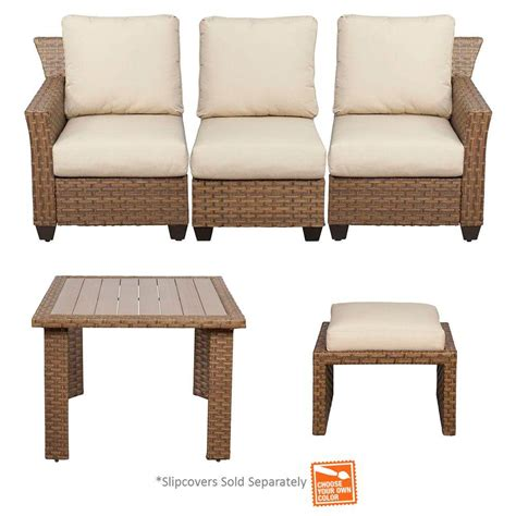sectional pieces sold separately hton bay tobago 5 piece modular patio sectional set