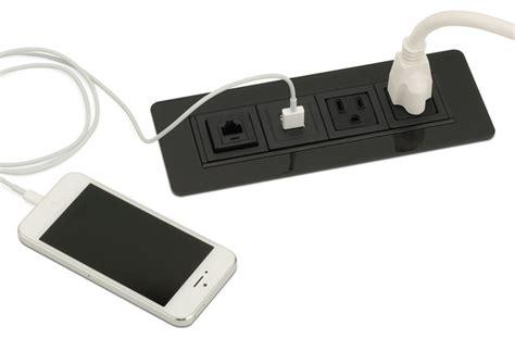 Rectangular Power Data Usb Grommet Pcs49c Modern Usb Desk Accessories