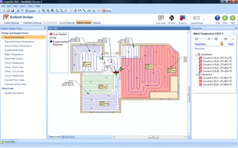 layout calculation software loopcad radiant heating software