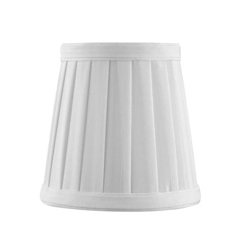 empire pleated l shades clip on empire pleated white l shade sh9616