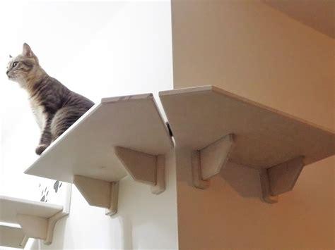 mensola angolare mensola per gatti ad angolo in legno made in italy