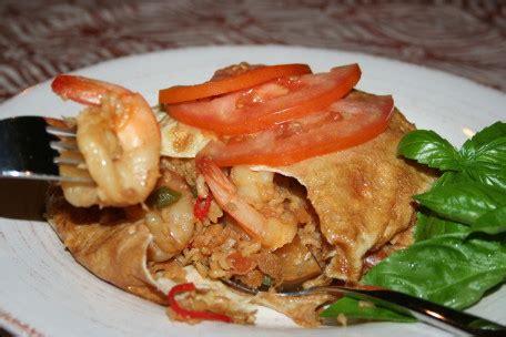 resep nasi goreng udang bungkus telur dadar resep